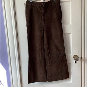 Gap stretch corduroy brown pants